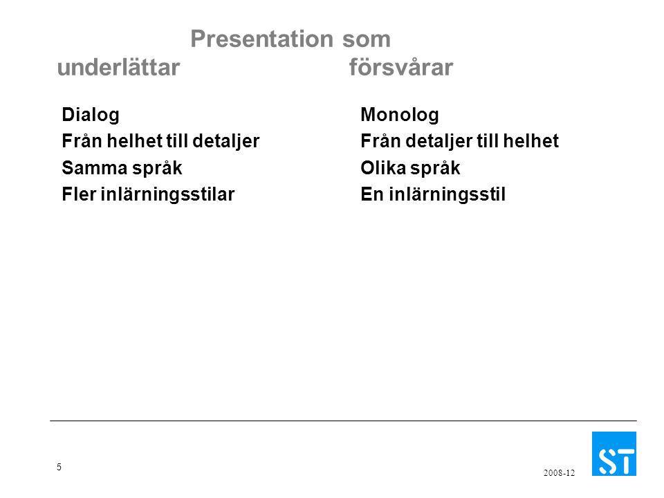 Presentation som underlättar försvårar