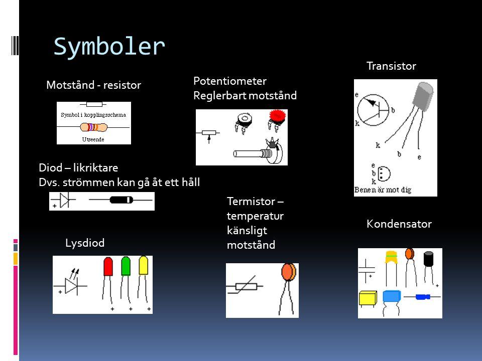 Symboler Transistor Potentiometer Motstånd - resistor