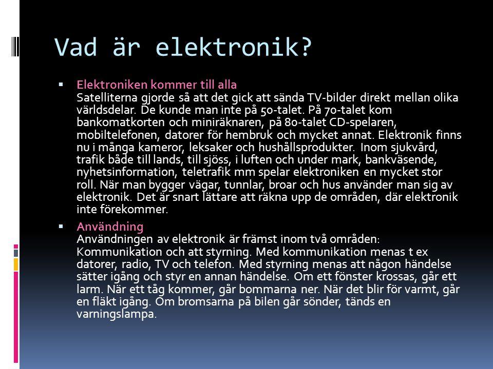 Vad är elektronik