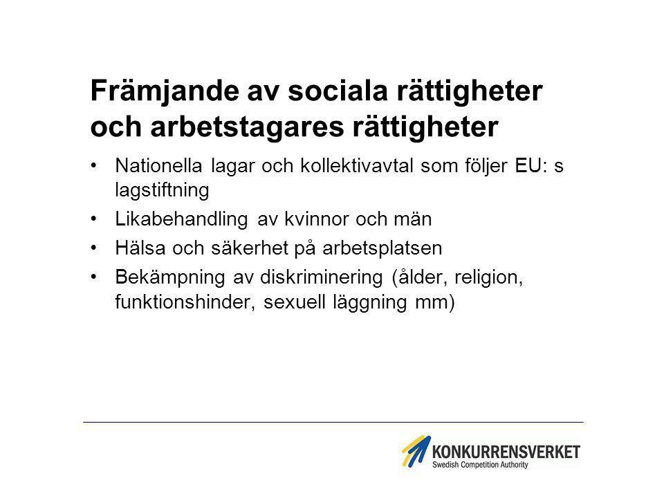 Främjande av sociala rättigheter och arbetstagares rättigheter
