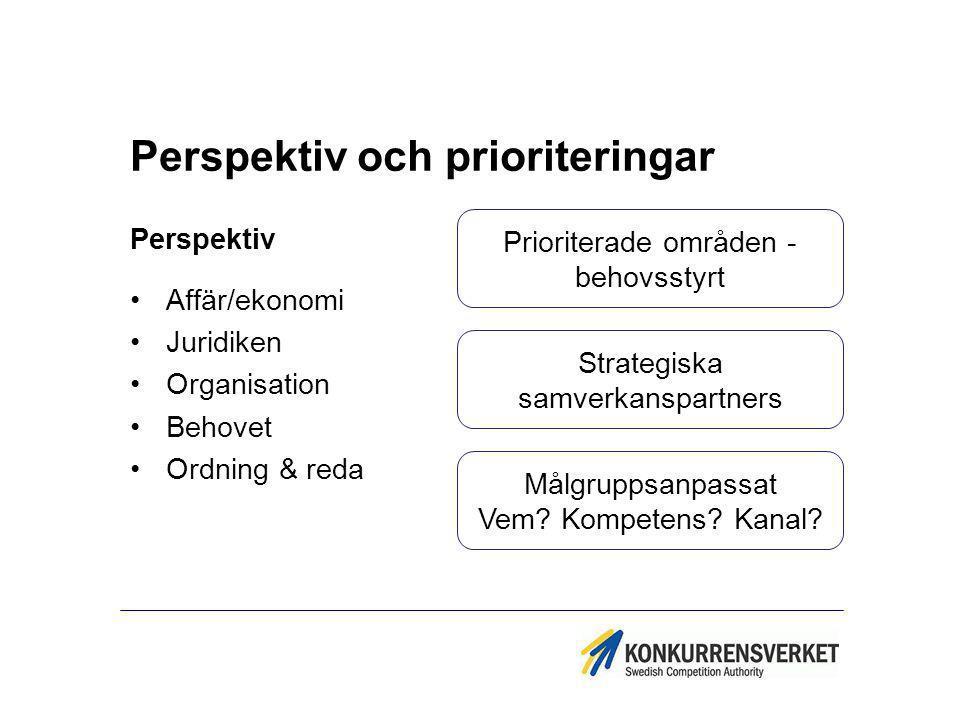 Perspektiv och prioriteringar