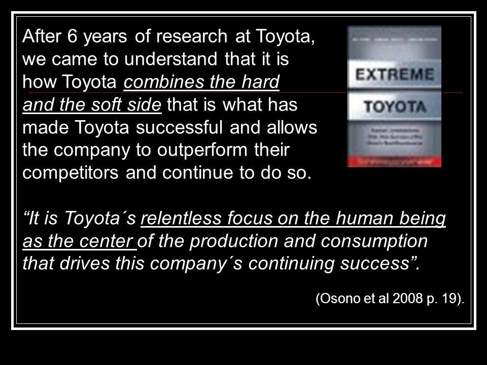 After 6 years of research at Toyota, we came to understand that it is