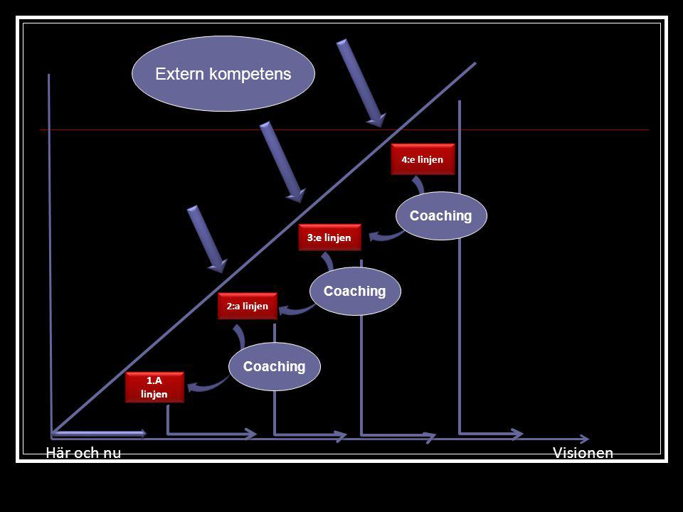 Extern kompetens Här och nu Visionen Coaching Coaching Coaching