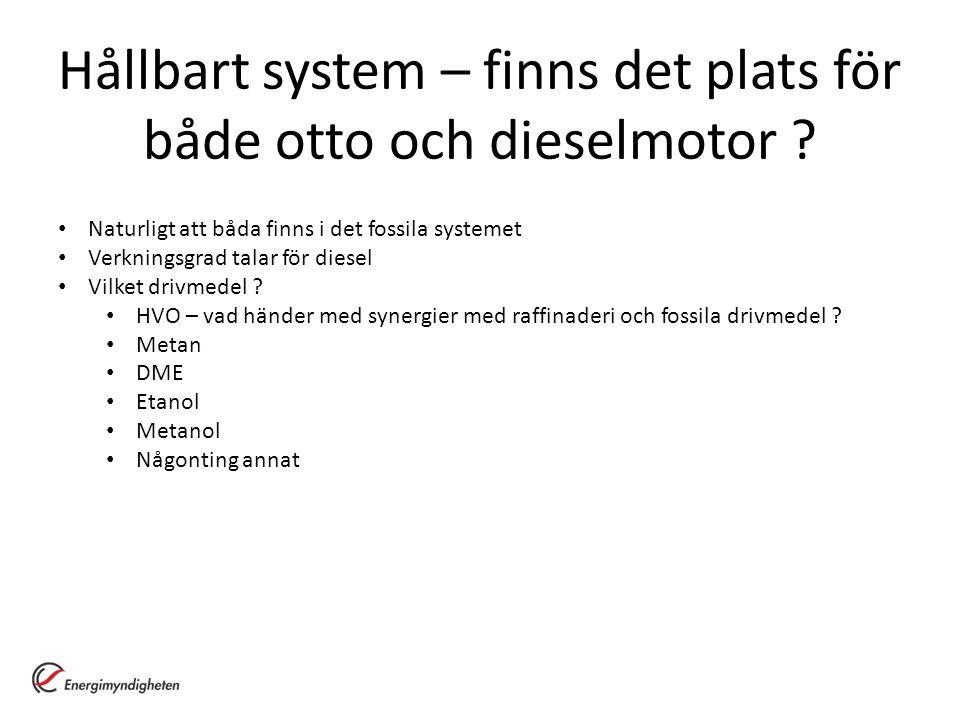 Hållbart system – finns det plats för både otto och dieselmotor