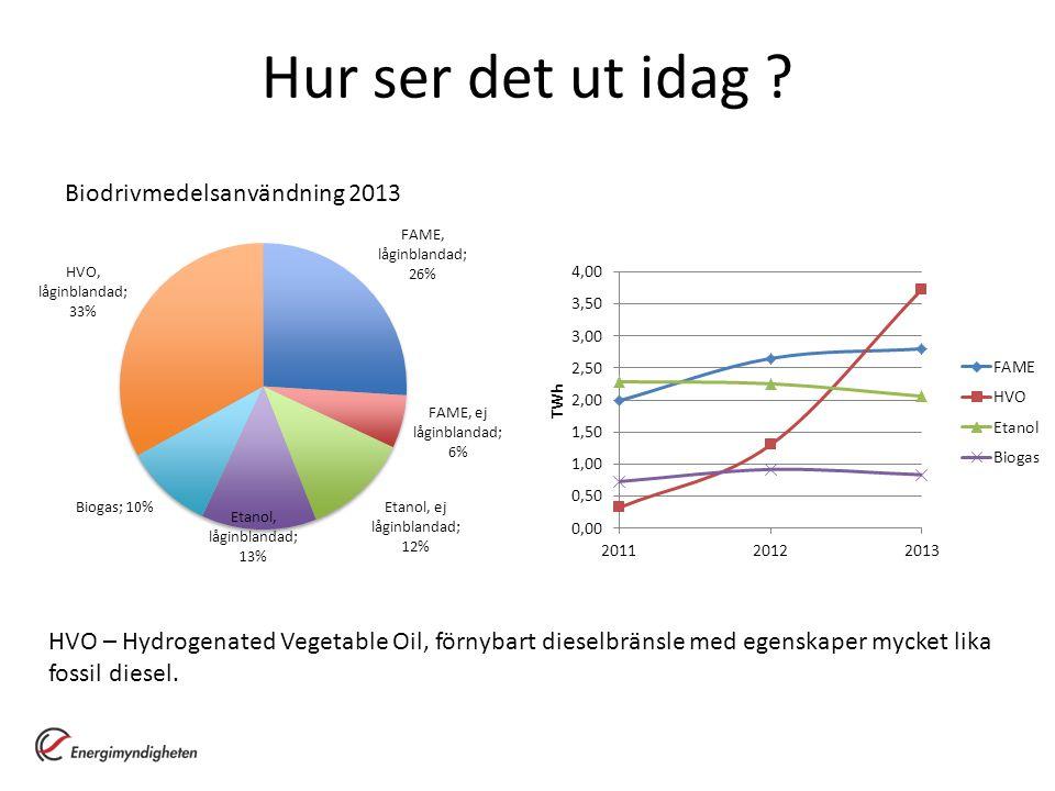 Hur ser det ut idag Biodrivmedelsanvändning 2013