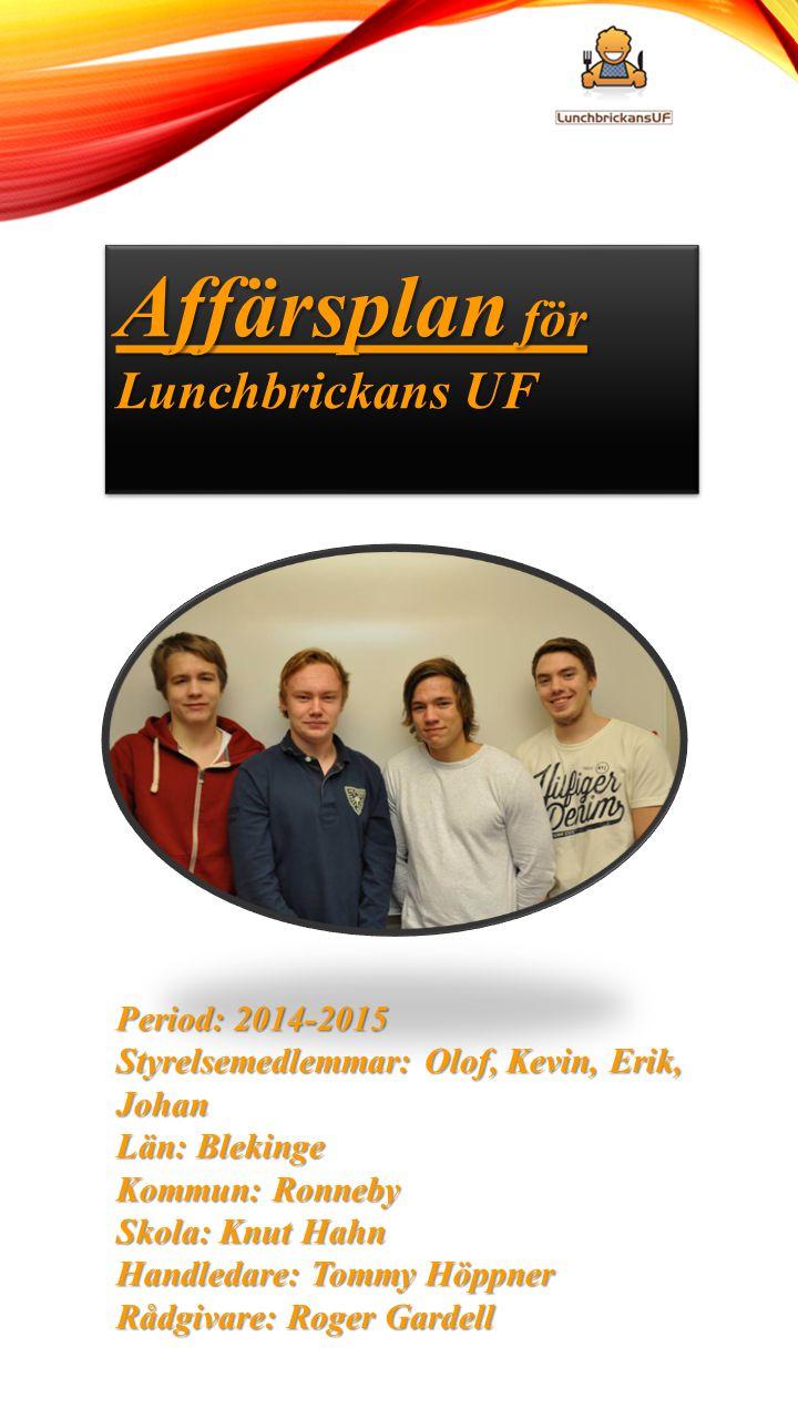 Affärsplan för Lunchbrickans UF