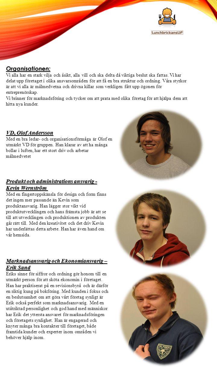 Organisationen: VD, Olof Andersson