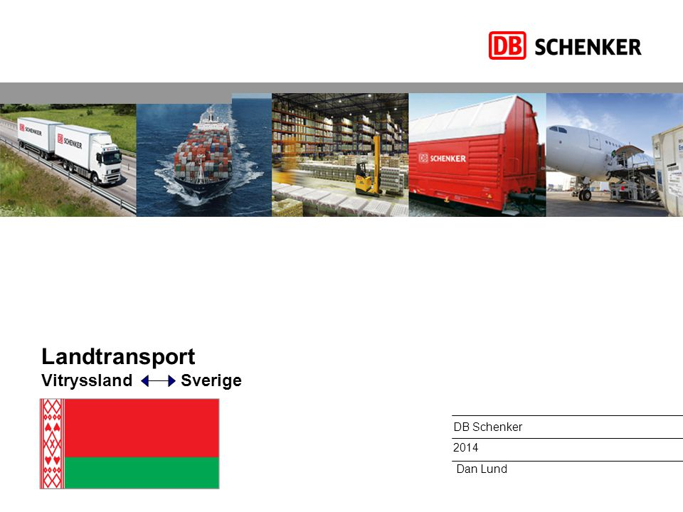 Landtransport Vitryssland Sverige
