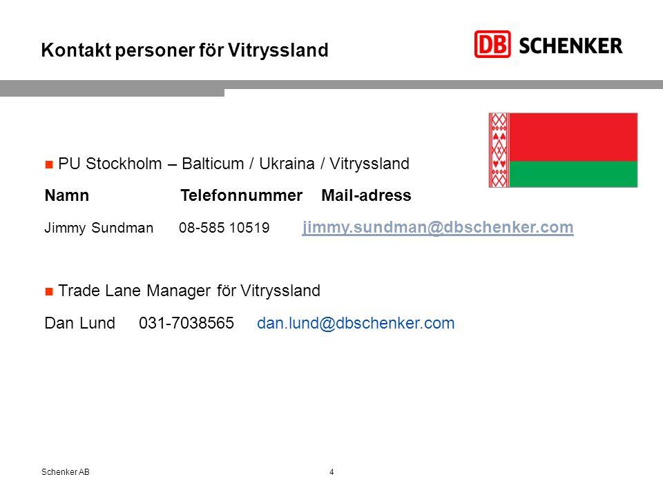 Kontakt personer för Vitryssland