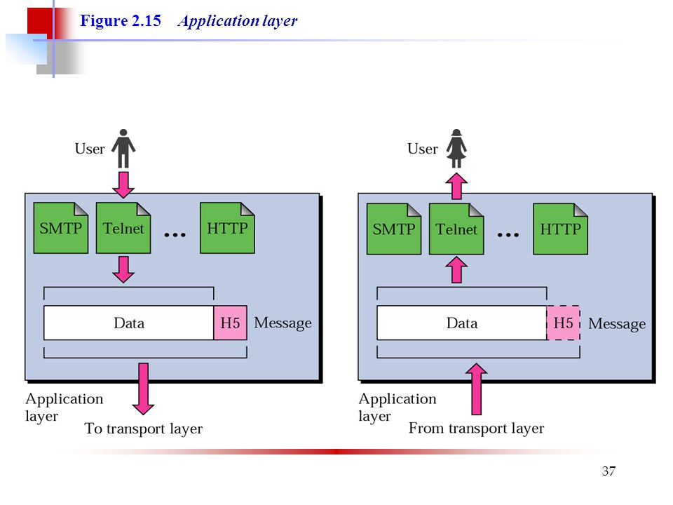 Figure 2.15 Application layer