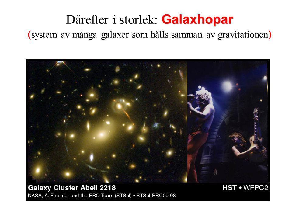 Därefter i storlek: Galaxhopar