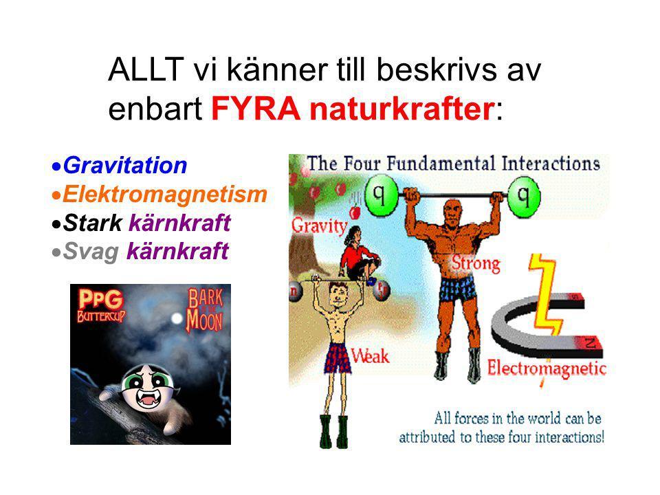 ALLT vi känner till beskrivs av enbart FYRA naturkrafter: