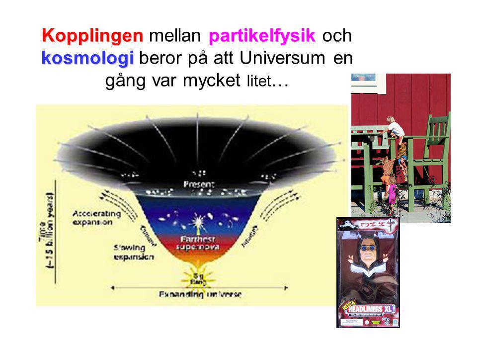 Kopplingen mellan partikelfysik och kosmologi beror på att Universum en gång var mycket litet…
