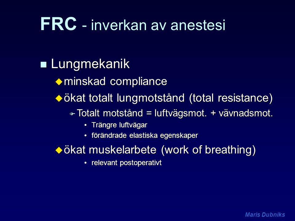 FRC - inverkan av anestesi