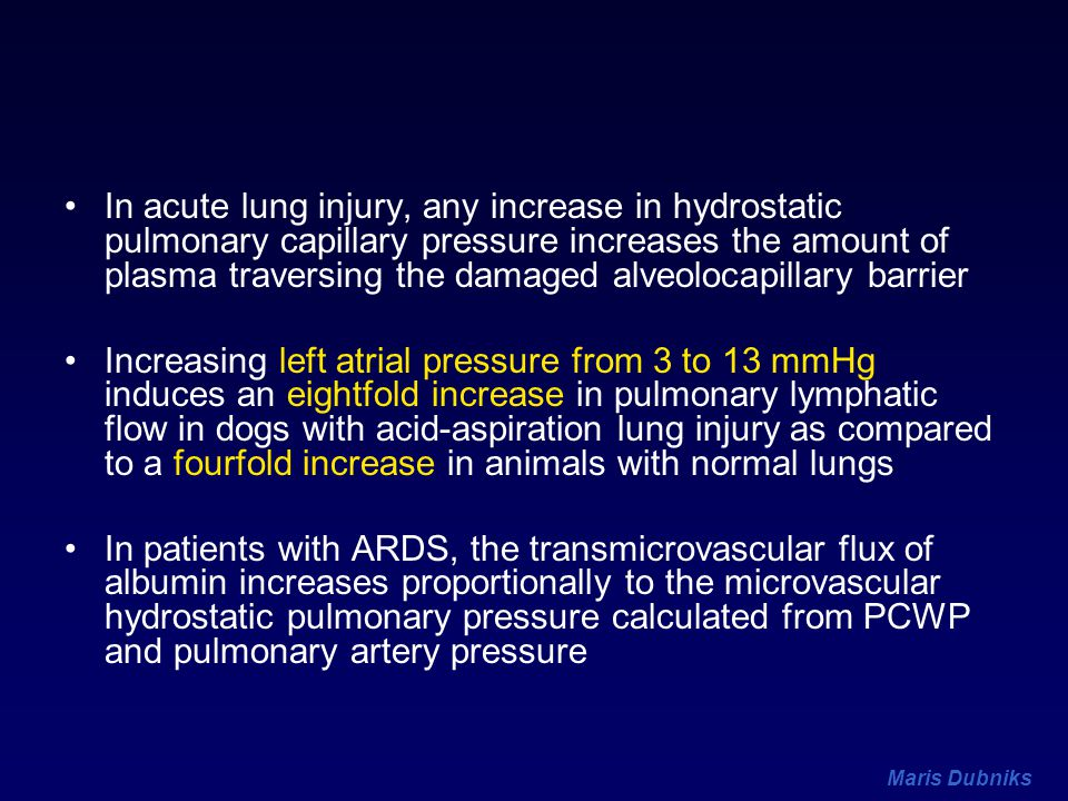 In acute lung injury, any increase in hydrostatic pulmonary capillary pressure increases the amount of plasma traversing the damaged alveolocapillary barrier