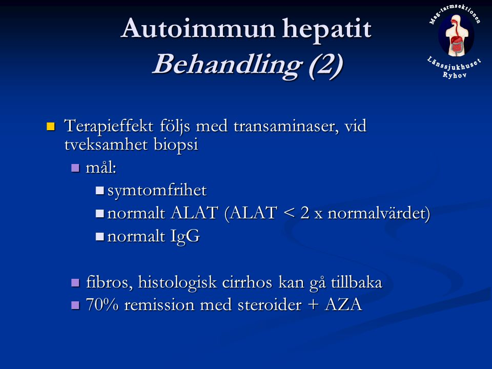 Autoimmun hepatit Behandling (2)