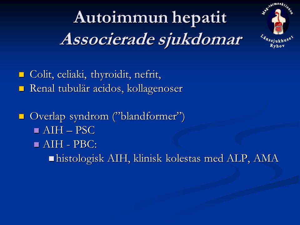 Autoimmun hepatit Associerade sjukdomar