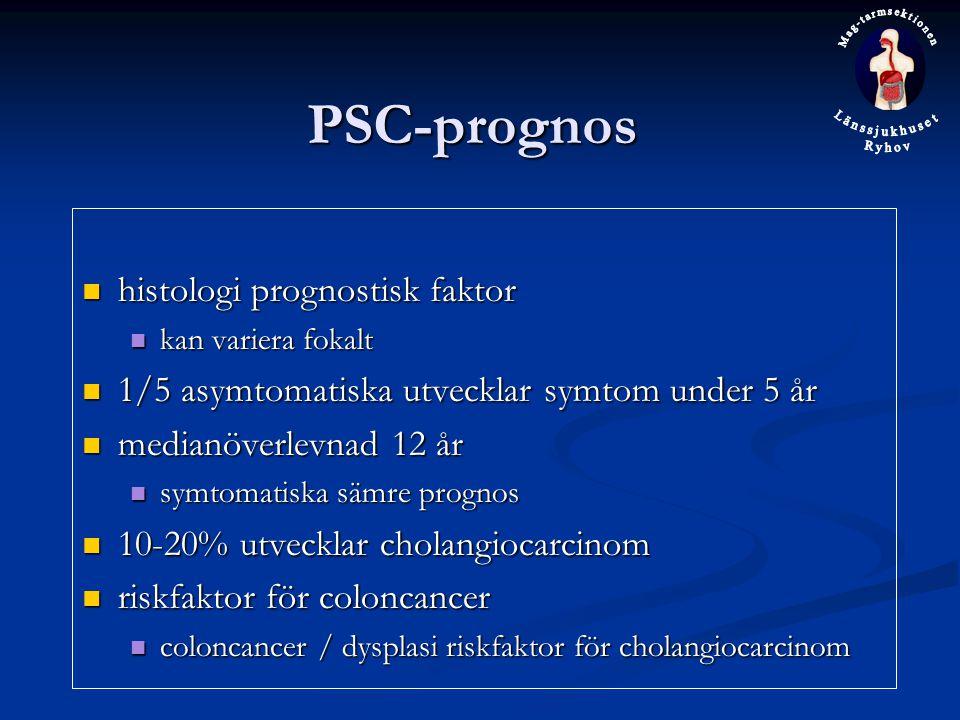 PSC-prognos histologi prognostisk faktor