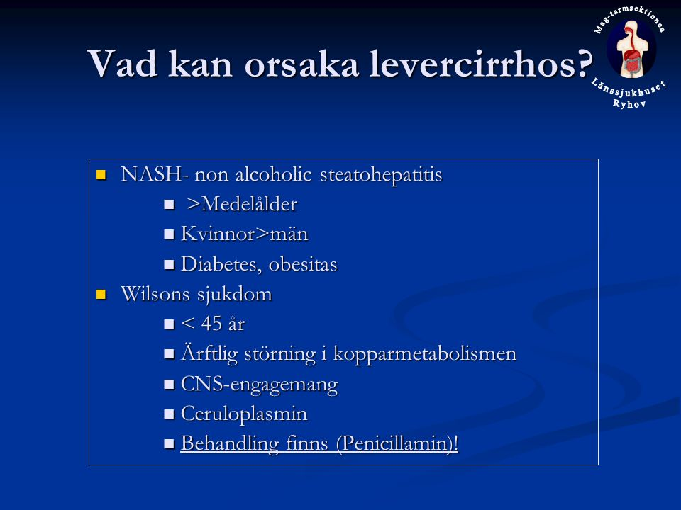 Vad kan orsaka levercirrhos