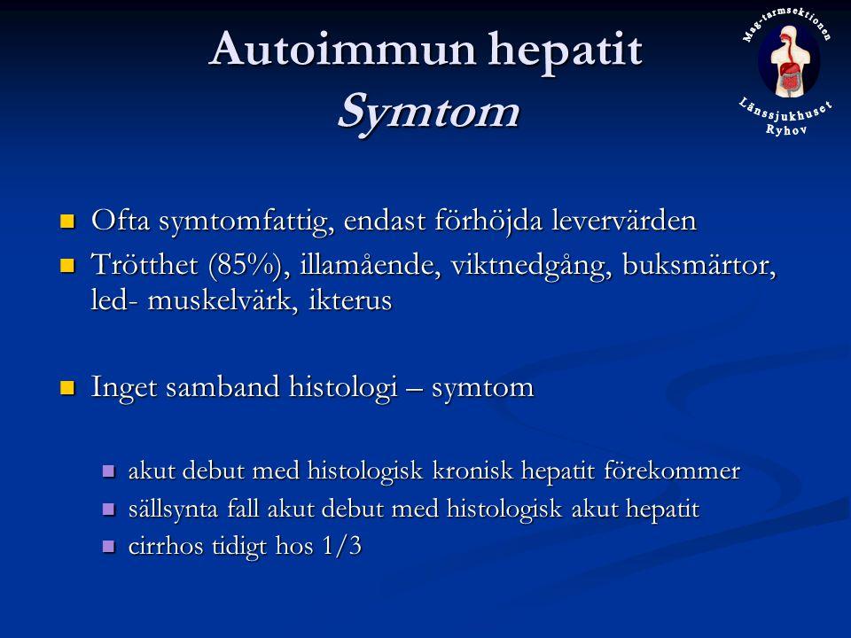 Autoimmun hepatit Symtom