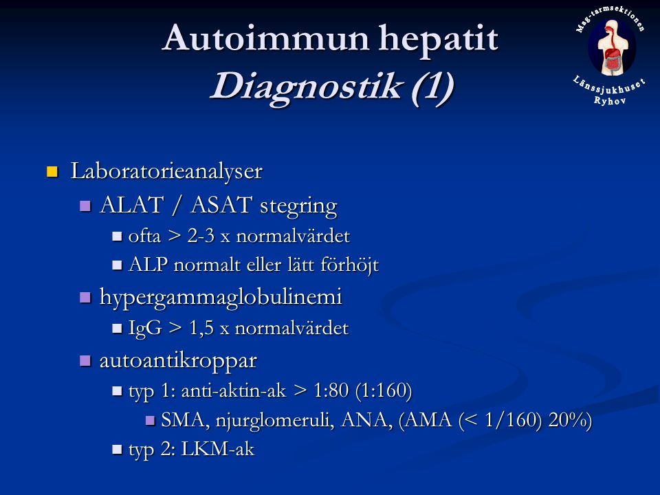 Autoimmun hepatit Diagnostik (1)