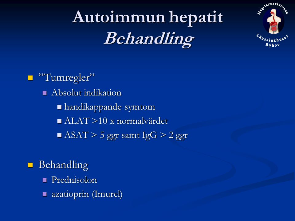 Autoimmun hepatit Behandling
