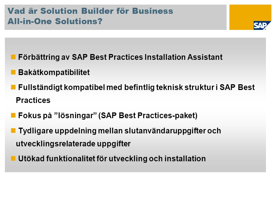Vad är Solution Builder för Business All-in-One Solutions