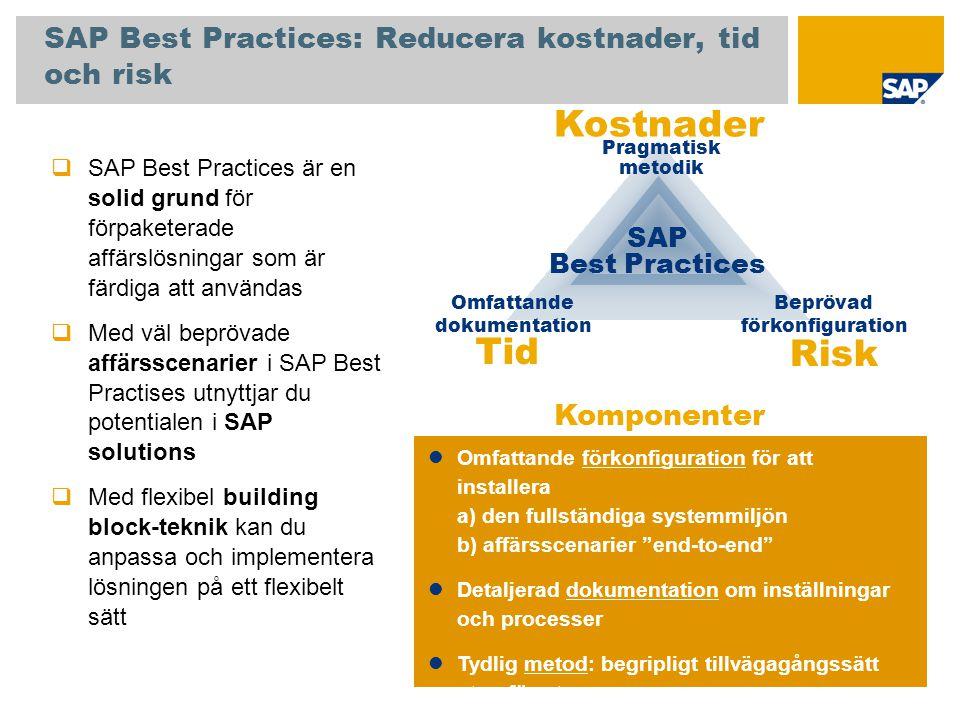 SAP Best Practices: Reducera kostnader, tid och risk
