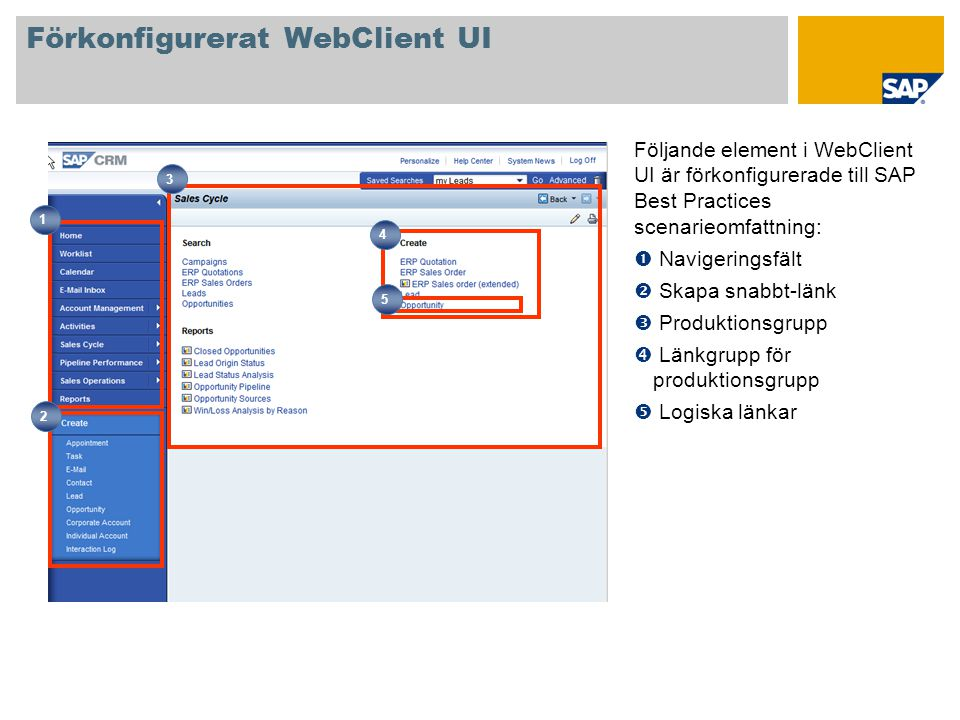 Förkonfigurerat WebClient UI