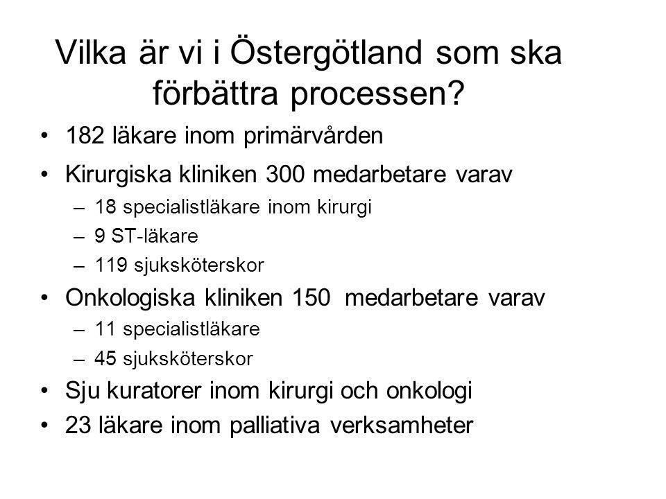 Vilka är vi i Östergötland som ska förbättra processen