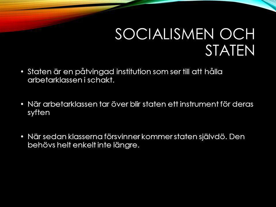 Socialismen och staten