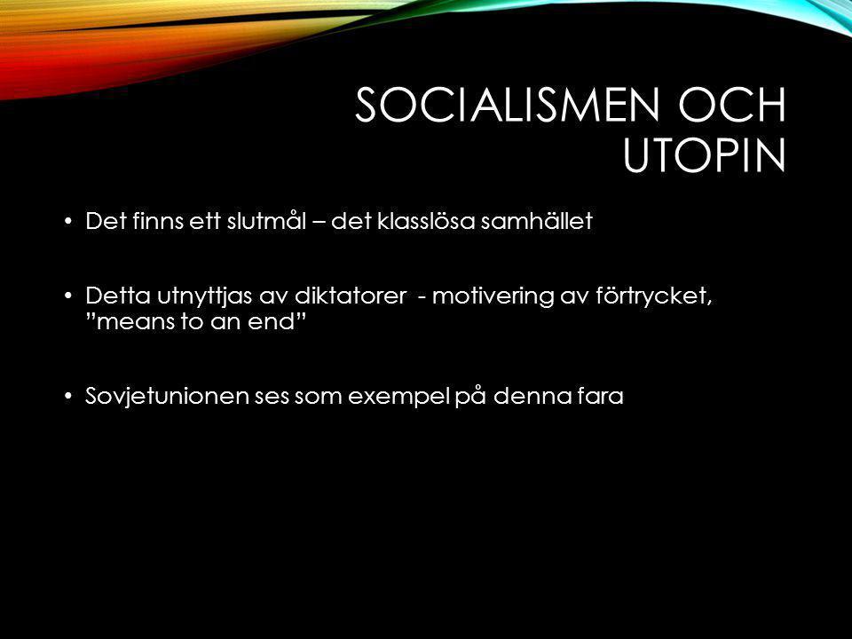 Socialismen och utopin