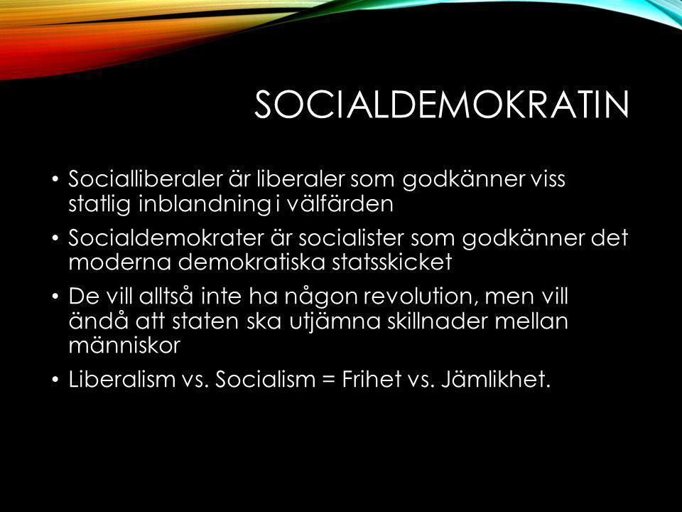 Socialdemokratin Socialliberaler är liberaler som godkänner viss statlig inblandning i välfärden.
