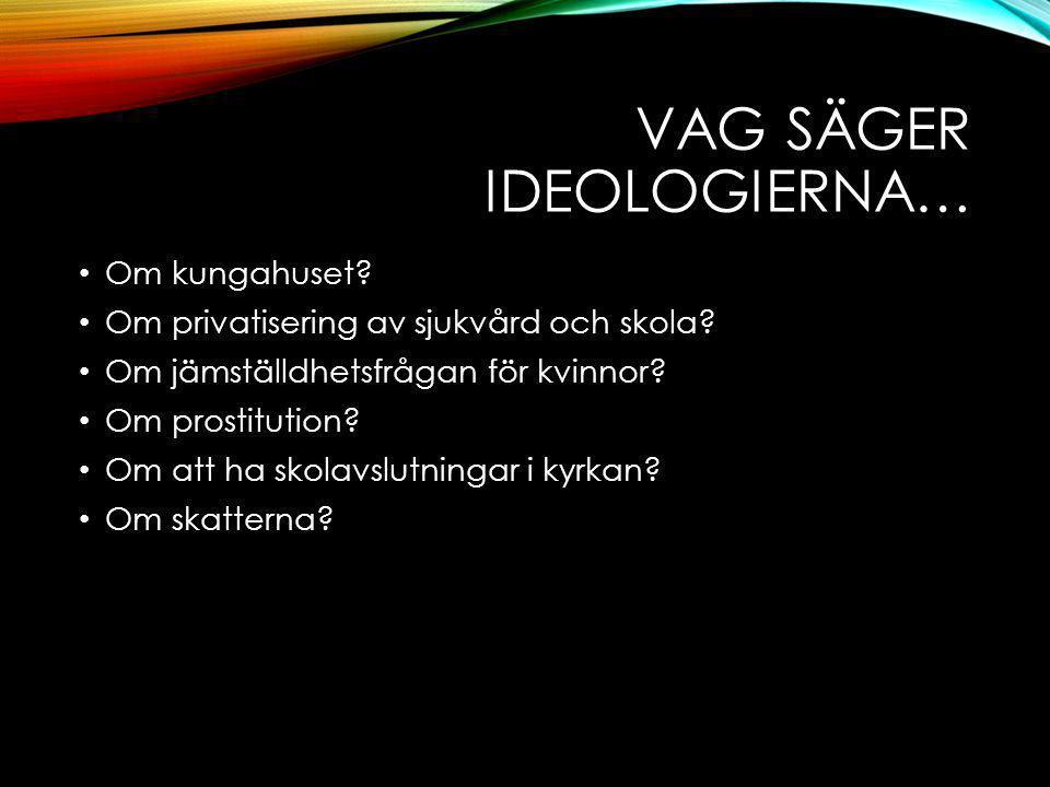 Vag säger ideologierna…