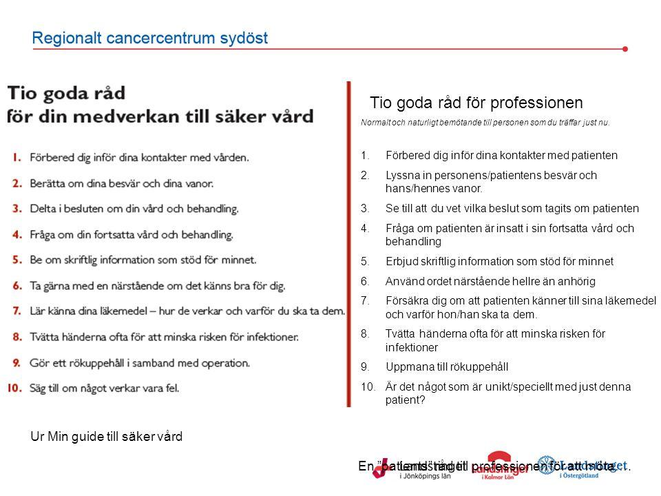 Tio goda råd för professionen