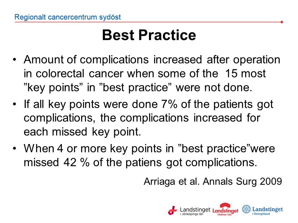 Best Practice Arriaga et al. Annals Surg 2009