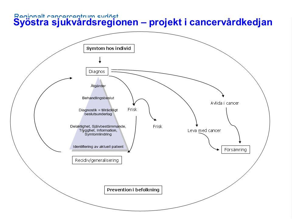 Syöstra sjukvårdsregionen – projekt i cancervårdkedjan