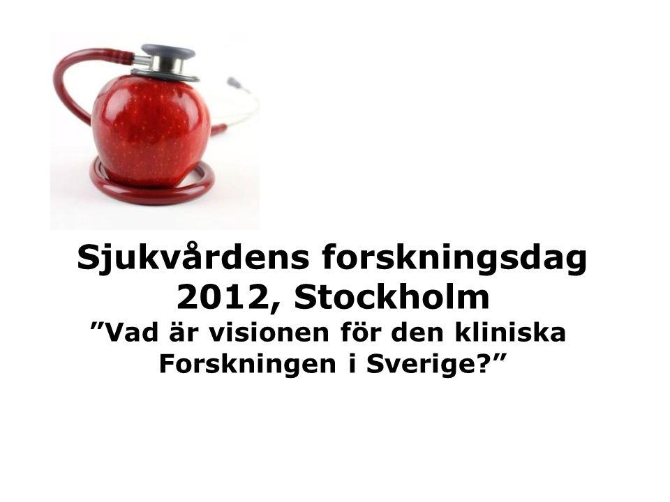 Sjukvårdens forskningsdag 2012, Stockholm