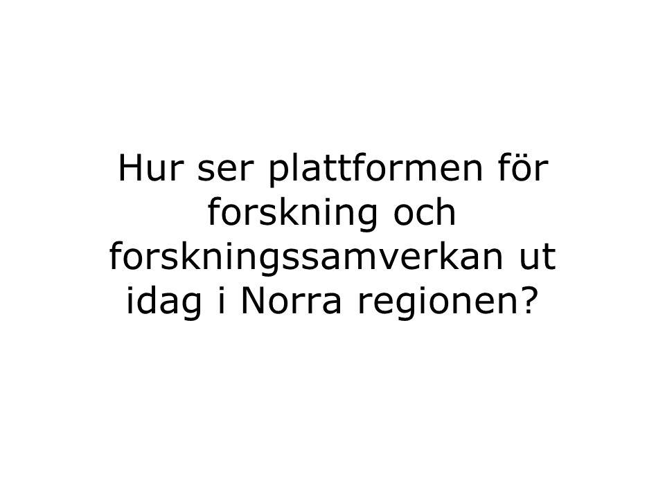 Hur ser plattformen för forskning och forskningssamverkan ut idag i Norra regionen