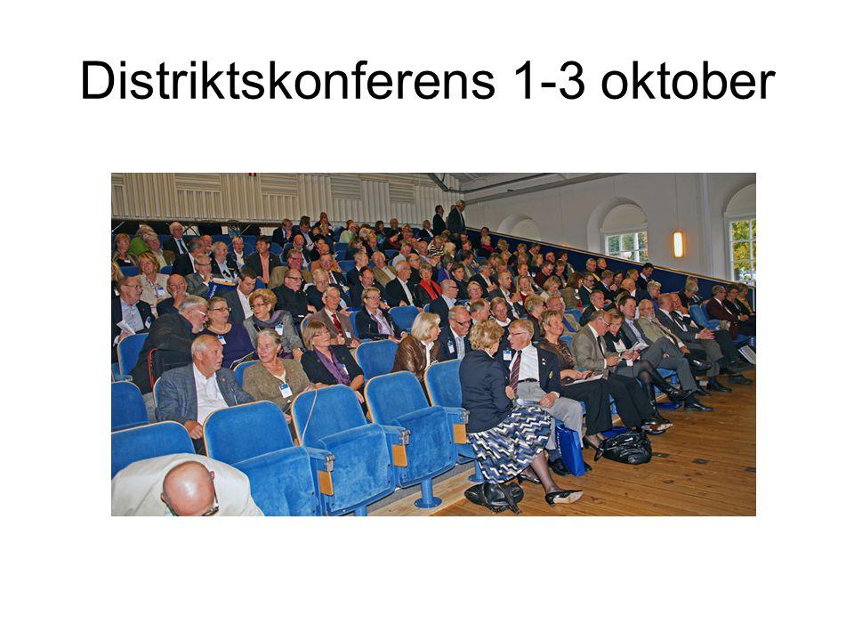 Distriktskonferens 1-3 oktober