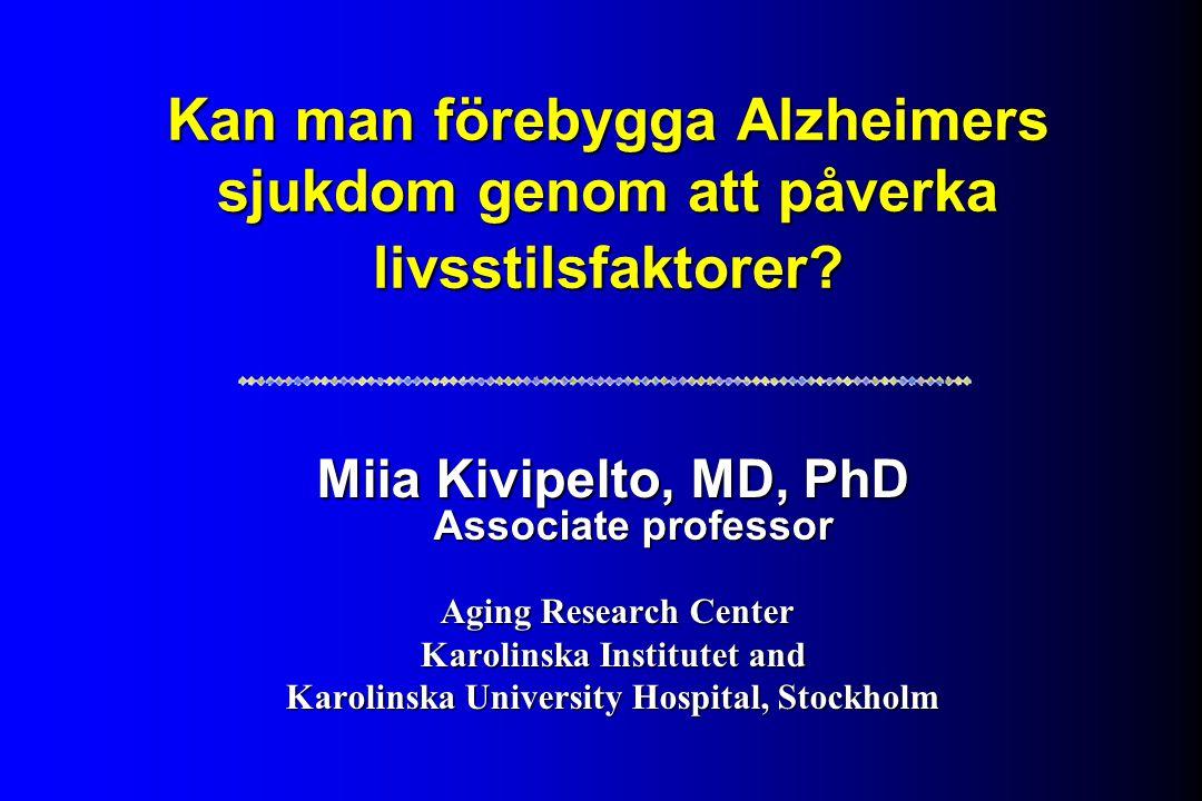 Kan man förebygga Alzheimers sjukdom genom att påverka livsstilsfaktorer