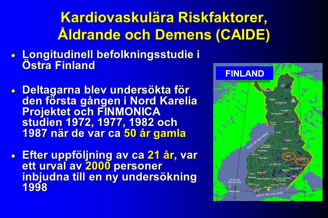 Kardiovaskulära Riskfaktorer, Åldrande och Demens (CAIDE)