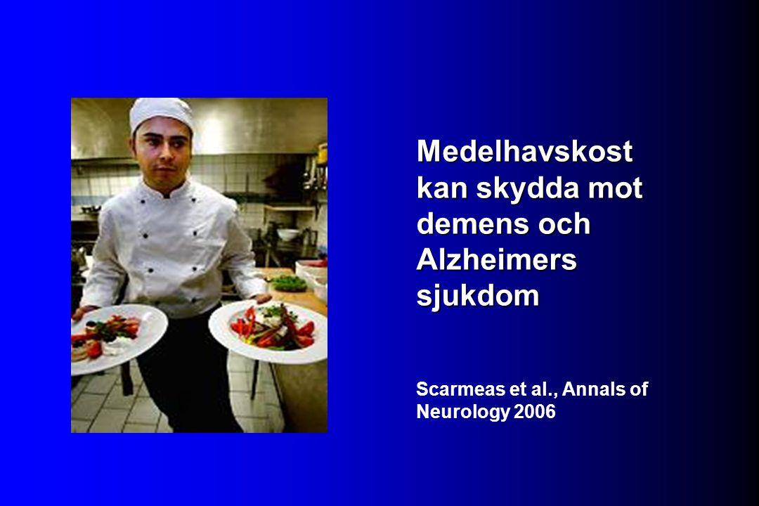 Medelhavskost kan skydda mot demens och Alzheimers sjukdom