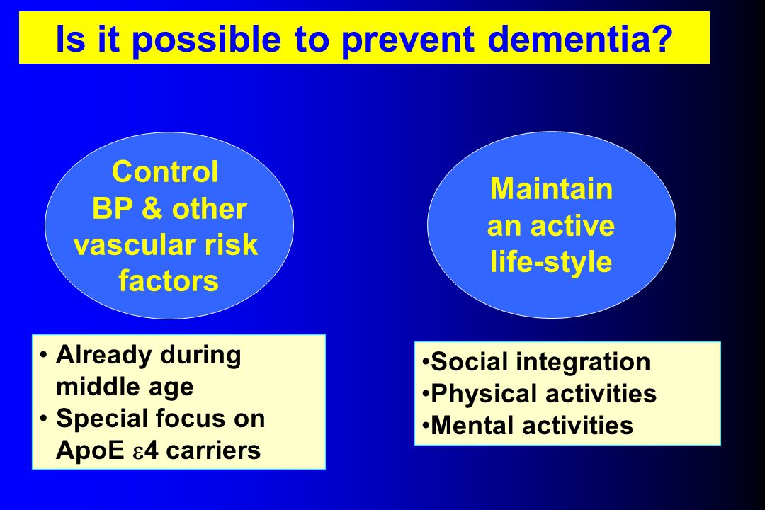 Is it possible to prevent dementia