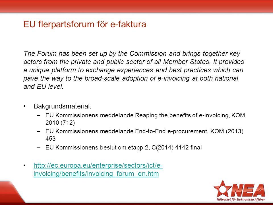 EU flerpartsforum för e-faktura