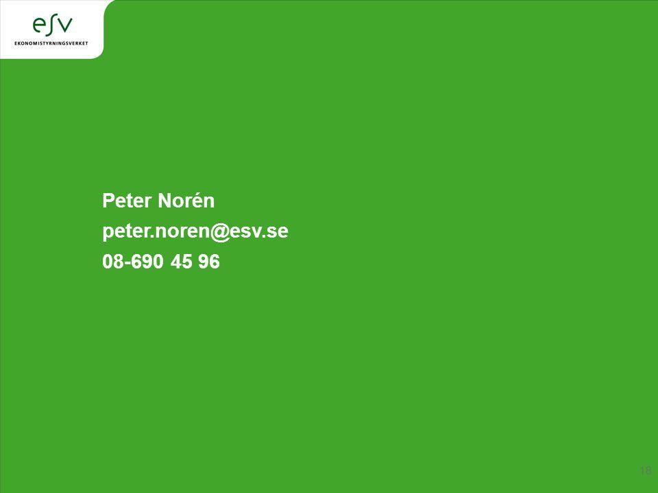 Peter Norén peter.noren@esv.se 08-690 45 96
