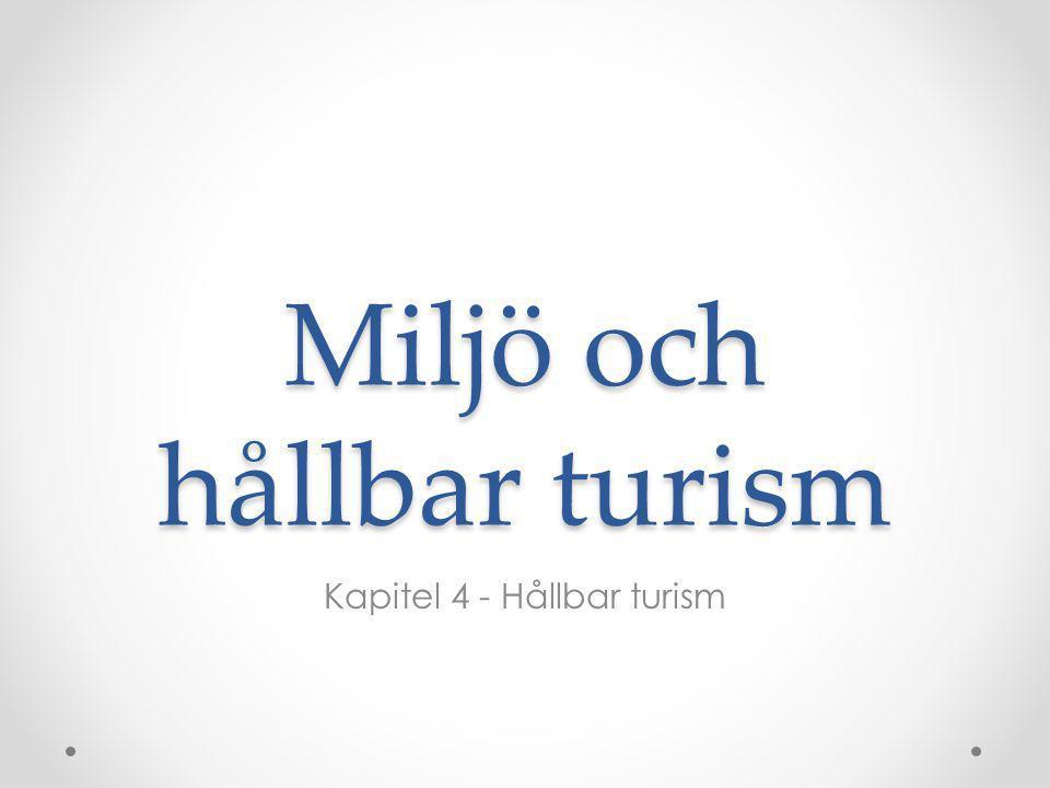 Miljö och hållbar turism