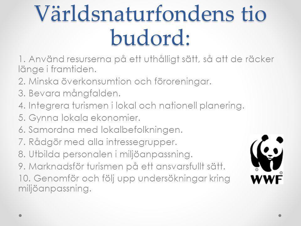 Världsnaturfondens tio budord: