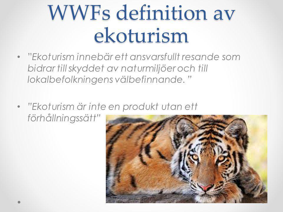 WWFs definition av ekoturism