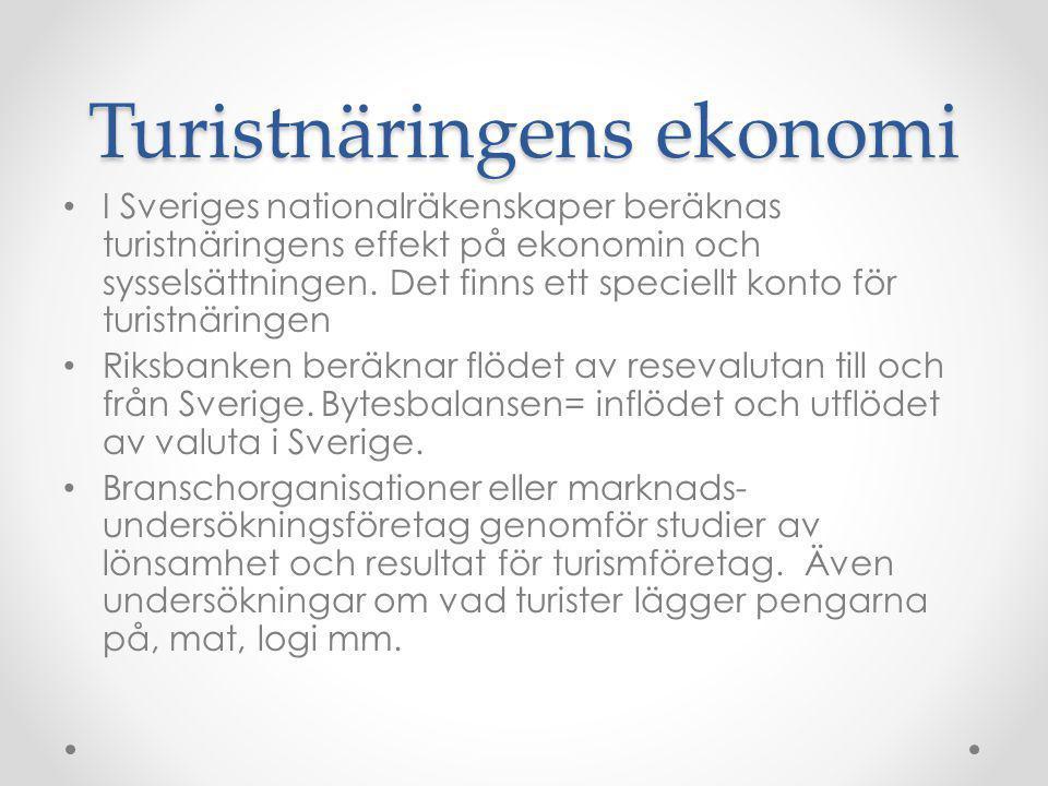 Turistnäringens ekonomi